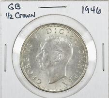 1946 Great Britain Uk Silver 1/2 Crown Half Crown George Vi