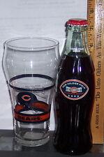 2003 NEW SOLDIER FIELD INAUGURAL SEASON CHICAGO BEARS 8 OZ COKE  BOTTLE W/ GLASS