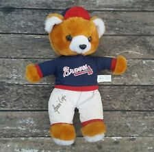 Javier Javy Lopez Autograph Signed Teddy Bear Atlanta Braves MLB Baseball