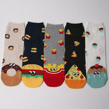 FOOD CHARACTER SOCKS 5 pairs=1 pack women girl cute MADE IN KOREA