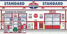 STANDARD OIL GAS STATION SCENE WHOLE WALL MURAL SIGN BANNER GARAGE ART 8' X 16'