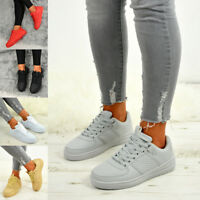 LADIES WOMENS TRAINERS LACE UP SNEAKERS CASUAL PLIMSOLLS SHOES SIZES
