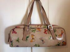 Vintage Vegan MATT & NAT Montreal Butterflies Beige Purse Baguette Handbag