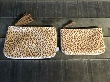 (2) IPSY Leopard/Cheetah/Animal Print November 2019 Cosmetic Make-Up Bags ONLY