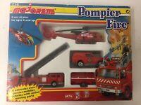 Rare Majorette 710 Pompier Fire Vintage  4 Die Cast Vehical Set