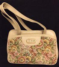 Vintage An Ambassador Design Beige Handbag Purse Gobelin