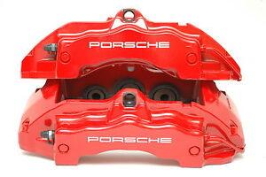 Porsche 955 Cayenne GTS Calipers Red 95535142222 95535142122