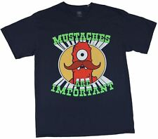Yo Gabba Gabba Mens T-Shirt  - Muno Mustaches are Import Image on Navy Blue