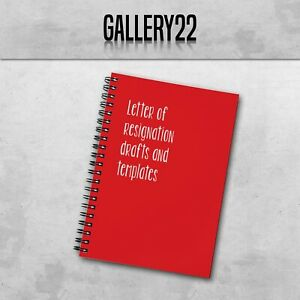 Letter Of Resignation Drafts A5 Notebook Work Funny Slogan Stationery
