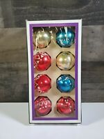 THE CHRISTMAS GALLERY ORNAMENTS- BOX OF 8 CHRISTMAS BALLS, DIFFERENT DESIGNS