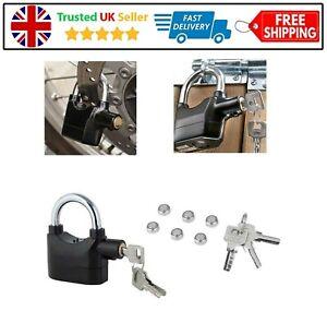 Anti Theft Alarm Lock Padlock Loud Siren Motorbike Motion Sensor Security 110DBA