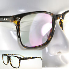 Studded New Shinny Black Tortoise transparent Plastic glass Frame eyeglass 8365