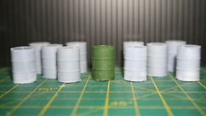 12 O Scale  Oil Drums - Unpainted Kit 1/43