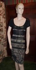 Stunning Kenzo black beige knit dress, size M, made in France!!
