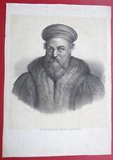 LITHOGRAPHIE: de CHABERT d'après MAURIN Portrait de POLIDORE DE CARAVAGE