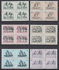 Luxembourg Sc 280-285 MNH. 1952 Helsinki Olympics, Blocks of 4, VF