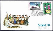 CHILE 1988 FDC COVER # 1326/7 CHRISTMAS CHILD PAINTING
