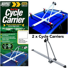 2 x Maypole Car Roof Mounted Upright Cycle Bike Travel Rack Holder Carrier -15kg