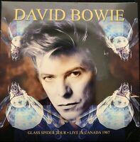 David Bowie Live Glass Spider Tour Montreal 1987 Limited Edition Blue Vinyl 3 LP