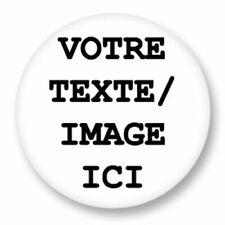 Badge Personnalisé Button Pin 38mm photo Idée Cadeau Fête Père Mère Anniversaire