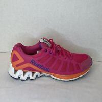 Reebok Zigtech Athletic Running Training Shoes Women Size 7.5 Pink Orange Purple
