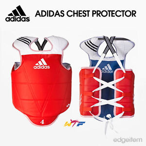 Adidas TaeKwonDo Reversible Chest Guard WTF Approved Protector TKD