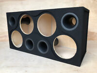 "Custom Ported Sub Box Enclosure for 4 10"" Subs ~BIRCH PLYWOOD~ 5.3CF - 34HZ"