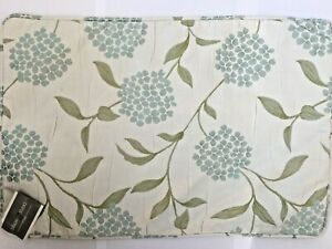 "PALOMA Design Studio Rectangular 16"" x 24"" Duck Egg Flower & Cream Cushion Cover"