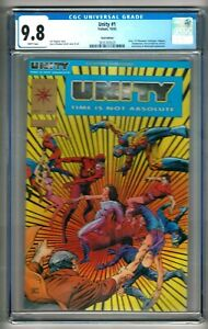 Unity #1 (1992) CGC 9.8  White Pages  Shooter - Windsor-Smith   Gold Edition