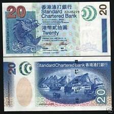 HONG KONG 20 DOLLARS P291 2003 Replacement ZZ BOAT SCB UNC MONEY BANK NOTE CHINA