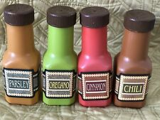 Step 2 Pretend Play Food Spice Bottles Lot of 4 Cinnamon Oregano Parsley Chili