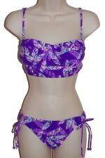 Hobie bikini set swimsuit size M purple underwire bustier swimwear nwt new