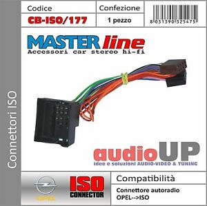 Connettore radio ORIGINALE->ISO altoparlanti+alimentazione OPELCorsa D '06->'14