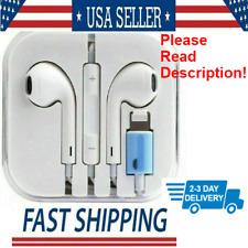 Wired Earphones Headphones Earbuds For Apple iPhone XS Xr X 8 7 Plus Lightning