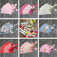 50x Flower Printed Waterproof Dry Wax Paper Food Handmade Candy Wrapping Tissue