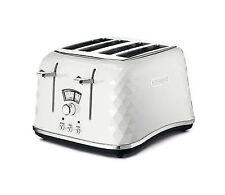 De'longhi CTJ4003.W Brillante Faceted 4 Slice Toaster-White