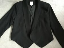 BLACK JACKET FROM SILVIAN HEACH WITH ROUNDED LAPELS LONGER IN THE FRONT - S