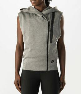 689067-091 NWT Women's Nike Sportswear Tech Fleece Sleeveless Hooded Sweatshirt