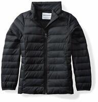 Essentials Big Girls' Lightweight WaterResistant Packable Puffer Jacket,Black,XL