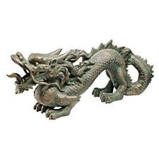Asian Far East Chinese Dragon Spiked Tail Garden Sculpture Medium Statue