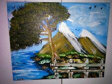 Manni Ludolf - Die Berge am Meer 40cm x 50cm Acryl auf Leinwand (177)