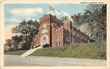 D26/ Pomeroy Meigs County Ohio Postcard 1918 Armory Building Military
