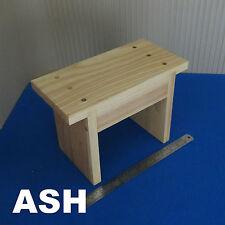 In legno massello per bambini Passo Sgabello Piede SEDIA LEGNO FRASSINO DESIGN VINTAGE ECO