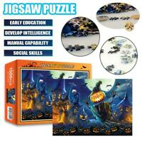 1000 Pieces Halloween Pumpkin Lantern Jigsaw Puzzle Education Puzzles For Adults