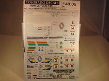 DECALS 1/43 RENAULT CLIO 16s #53/#17/#3 ou #19 TOUR DE CORSE 1991 -COLORADO 4305