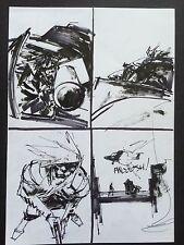Metal Gear Solid Original Comic Art Ashley Wood Published 3a ThreeA Threezero