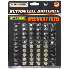 40 PC. BUTTON CELL ASSORTED COIN BATTERIES 40 PIECE ALKALINE piece watch camera