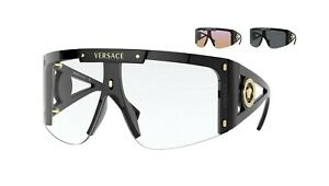 Versace MEDUSA ICON VE 4393 Black/Clear+Pink+Grey Shaded Lens (GB11W) Sunglasses