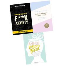 Anxiety Panicking about Panic,Hardcore Self Help, 3 Books Collection Set New PB