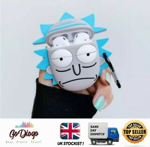 Rick from Rick And Morty Novelty 3D Case For Apple Airpod 1/2  UK STOCK/SELLER